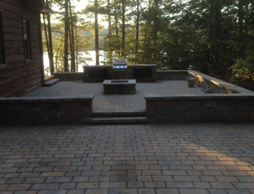 Outdoor Kitchen Patio with Firepit